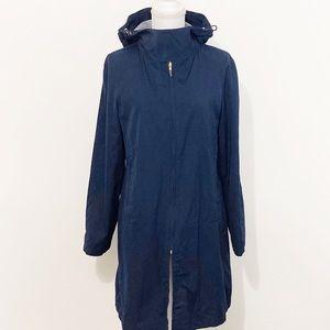 RALPH LAUREN-Hooded Cotton Raincoat. Size Medium